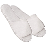 Cotton Towel Slippers Open Toe 1 Pair (140283)