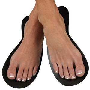 Strapless Slipper Black 6 Pair (140285)