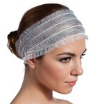 "Disposable Non-Woven Headband - 3"" 100 Count (140502)"