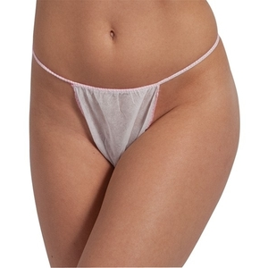 Disposable Thong Panty - White Individually Wrapped 50 Pack (140504)
