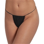 Disposable Thong Panty - Black Individually Wrapped 50 Pack (140505)