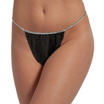 Disposable Tanga Unisex Bikinis - Black 50 Count (140556)