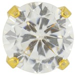 Studex Gold Plated Cubic Zirconia - Tiffany Setting - 5mm (180997)