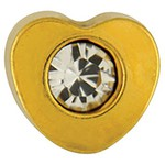 Studex Gold Plated Crystal Heart 4mm (181003)