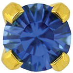 Studex Gold Plated Crystals 3mm - Tiffany Setting - Sapphire (181011)
