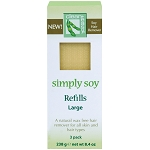 CLEAN+EASY Simply Soy Wax-Free Hair Remover Refills Large 3-Pack (302042)