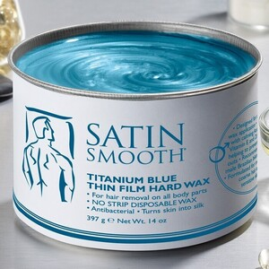 Satin Smooth Titanium Blue Thin Film Hard Wax 14 oz. (302200)