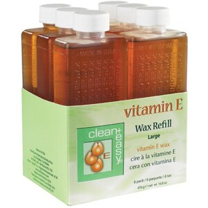 CLEAN+EASY Vitamin E Large Wax Refill 6-ct.