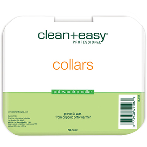 CLEAN+EASY Deluxe Pot Wax Collars 50 Count