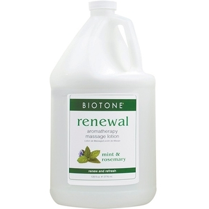 Aromatherapy Massage Lotion - Renewal Mint + Rosemary + Lemongrass 1 Gallon (307138)