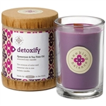 Detoxify - Spearmint & Tea Tree Oil Scented Soy Candle Crackling Wooden Wick 6.5 oz. (308871)