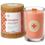 Energize - Rosemary Eucalyptus Scented Soy Candle Crackling Wooden Wick 6.5 oz. (308877)