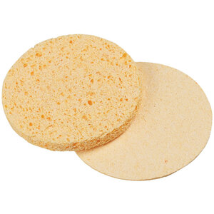"Compressed Cellulose Sponges - Yellow - 2.75"" Diameter 250 Count (309417)"