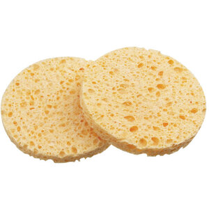 "Cellulose Round Sponges - Yellow - 3"" Diameter 50 Count (309418)"