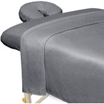 Premium Microfiber 3-Piece Massage Sheet Set - Cool Grey (309709)