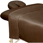 Premium Microfiber 3-Piece Massage Sheet Set - Chocolate (309745)
