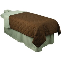 "Premium Quilted Blanket - Chocolate 58""W x 85""L (310015)"