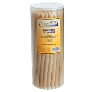 CYLINDER WORKS Lavender Incense Candles 50 Count (320280)