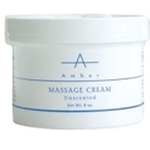 AMBER PRODUCTS Massage Cream Unscented 8 oz.