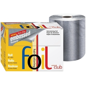 "PRODUCT CLUB Embossed Foil Roll Silver 5"" x 250'"