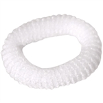 "Hair Bands 1"" White 100 Count (440525)"