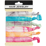 Hair Jewelry Hair Ties - Tye-Dye 6 Count (441823)