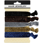 Hair Jewelry Hair Ties - Glitz & Glamour 5 Count (441824)