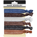 Hair Jewelry Hair Ties - Shear Elegance 6 Count (441825)