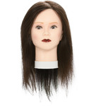 "Emma Manikin Head - 100% Human Hair - Extra Long 18"" Dark Brown Hair (445972)"