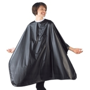 "BETTY DAIN Jumbo Shampoo Cape Black 45""W x 54""L"