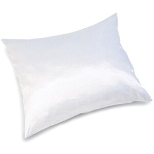BETTY DAIN Satin Pillow Case White