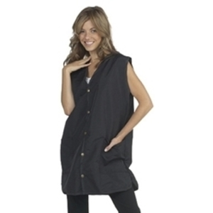 "DIAMOND TECHNICAL Deluxe Stylist Vest Silkarah Fabric Large 36""L Black (447093)"