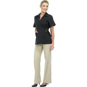 Canyon Rose Esthetician Wrap Jacket - Black Large (447107)