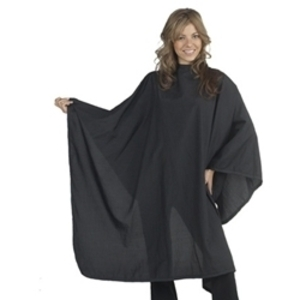 "DIAMOND TECHNICAL Extra Large Cutting Cape Fits Neck Sizes 9"" to 23"" 54""W x 60""L Black Antron Fabric (447150)"