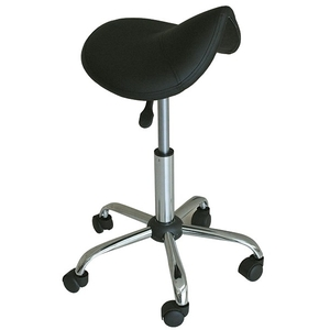 "Saddle Stool - Black 19"" - 27"" Seat Height (490220)"