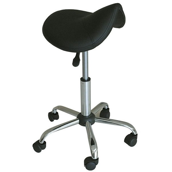 "Saddle Stool - Black 17"" - 22"" Seat Height (490220)"