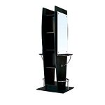 TISPRO Double Styling Station with Mirror Black