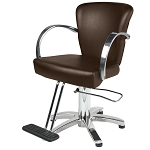 TISPRO Louve Styling Chair Brown with Polished Aluminum (490549)
