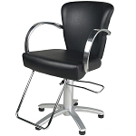 TISPRO Louve Styling Chair Black with Polished Aluminum (490567)