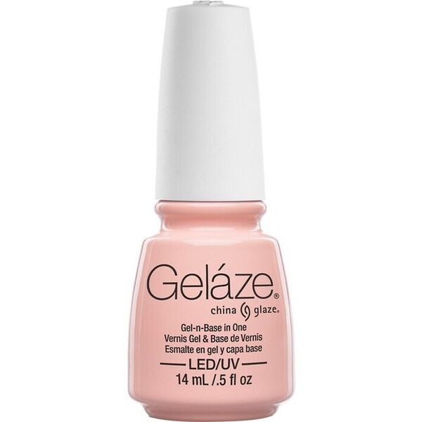 China Glaze Gelaze - Diva Bride Gelaze 2-in-1 Gel Polish System - Gel-n-Base In One! (517623)