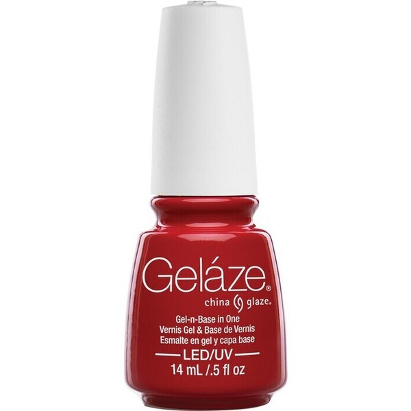 China Glaze Gelaze - Salsa Gelaze 2-in-1 Gel Polish System - Gel-n-Base In One! (517648)