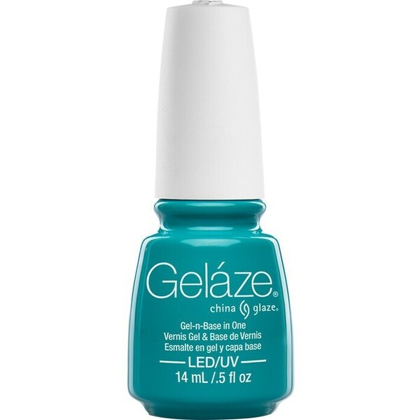 China Glaze Gelaze - Turned Up Turquoise Gelaze 2-in-1 Gel Polish System - Gel-n-Base In One! (517660)