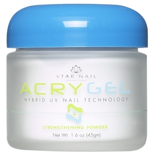 STAR NAIL AcryGel Strengthening Powder White 1 oz. (662213)