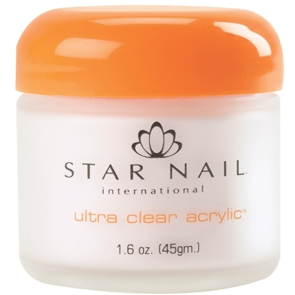 STAR NAIL Ultra Clear Acrylic Powder Bright White 1.6 oz. (662341)