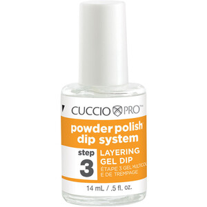 Cuccio Pro - Powder Polish Nail Colour Dip System - Step 3 - Layering Gel Dip 0.5 oz. (663561)