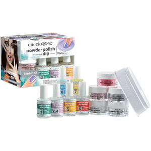 Cuccio Pro - Powder Polish Nail Colour Dip System - Starter Dipping Kit (663565)