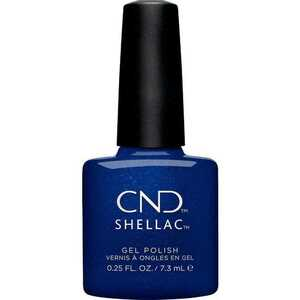 CND Shellac - Crystal Alchemy Collection - Sassy Sapphire 0.25 oz. - 7.3 mL. - The 14 Day Manicure is Here! (768672)