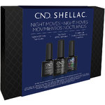 CND Shellac Night Moves Special Effect Top Coat Trio - Matte + Glitter + Pearl (768779)