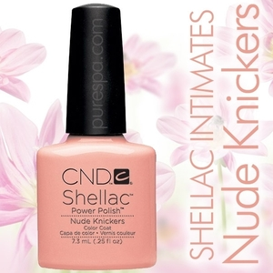 In Stock! CND Shellac 2013 Intimates Collection  / Nude Knickers