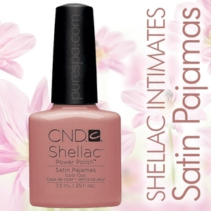 In Stock! CND Shellac 2013 Intimates Collection / Satin Pajamas